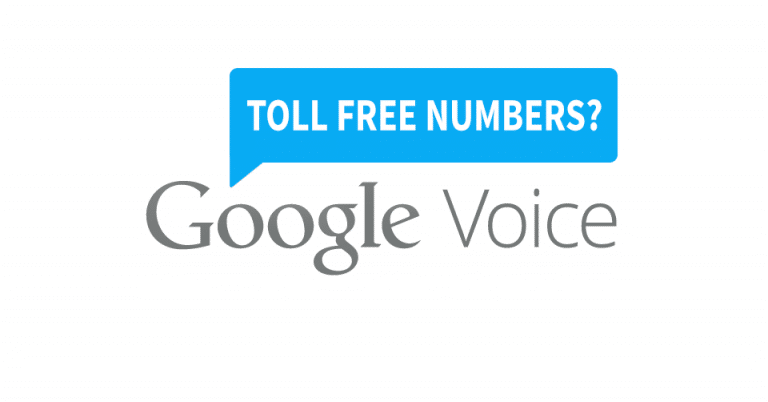 Google Voice Toll Free 800 Number