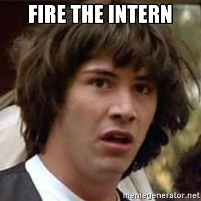 replace social media intern with AI