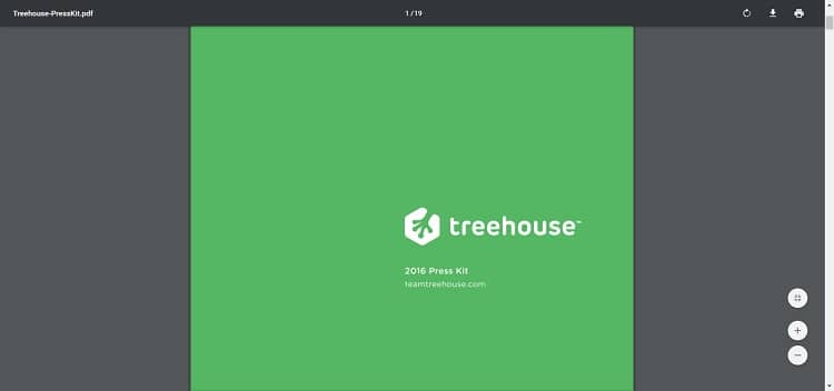 treehouse press page media kit example